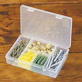 5 Compartment Plastic Storage Box/Container