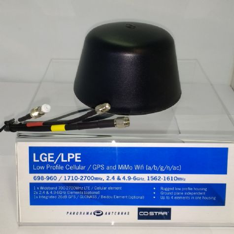 Low Profile 2G/3G/4G Antenna with WiFi and GPS
