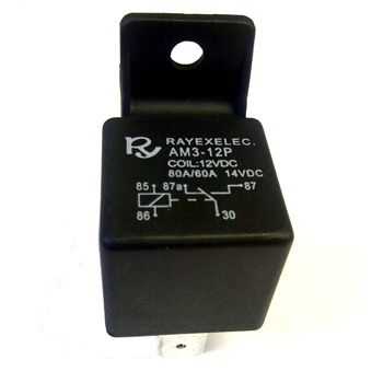 Changeover Relay 12v 5-Pin 80amp with mounting bracket (R.855)