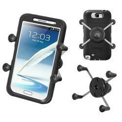 "(RAM-HOL-UN10B) X-Grip IV Universal Large Phone/Phablet & Sat Nav Holder with 1"" Ball"