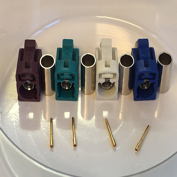 Assorted FAKRA Connectors for RG58 Coaxial Cable (AB.FAK/58)