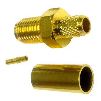 SMA Female RG58 Connector with Crimpable Pin (C.111F/PC)