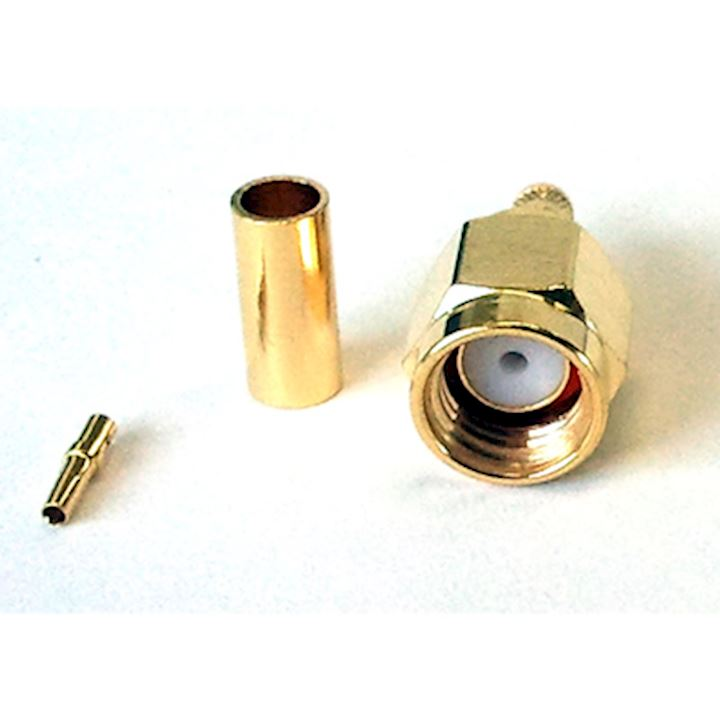 SMA Male Reverse Polarity Crimp Connector (RG174) (C174-M/RP)
