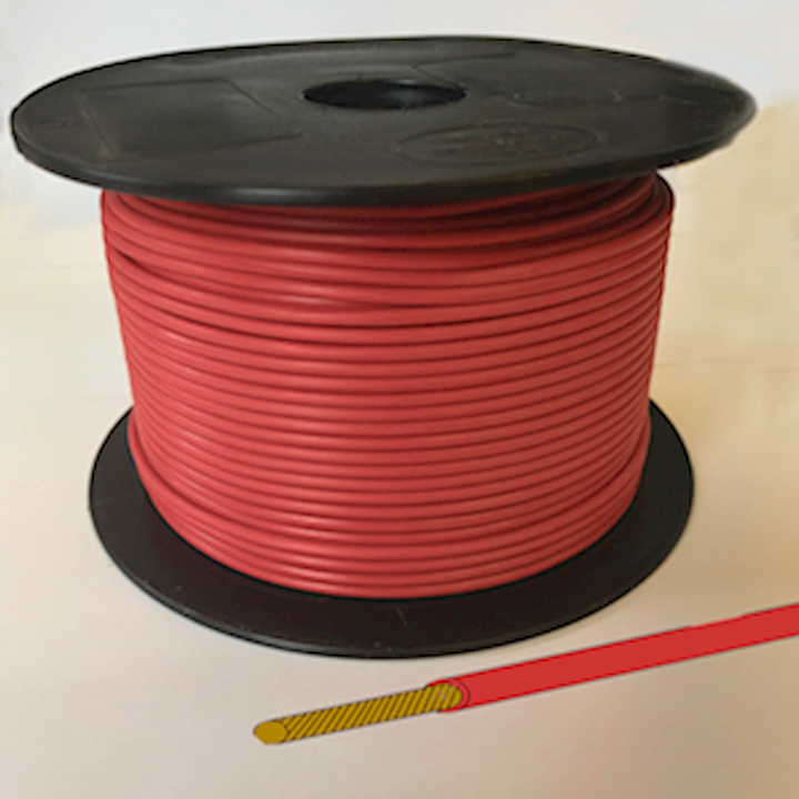 Single Core Cable - Red - 21/0.30 12.75amp (CAB.17RED)