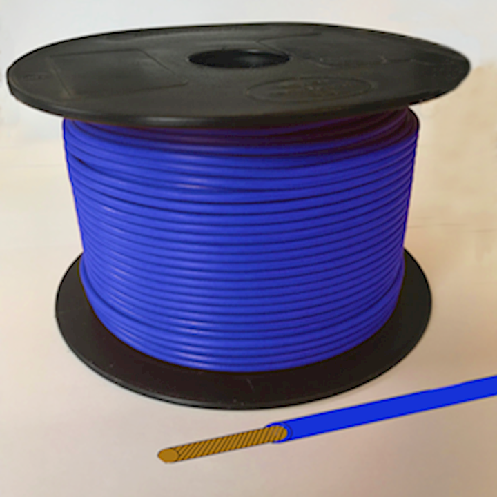 Single Core Cable - Blue - 21/0.30 12.75amp (CAB.17BLU)