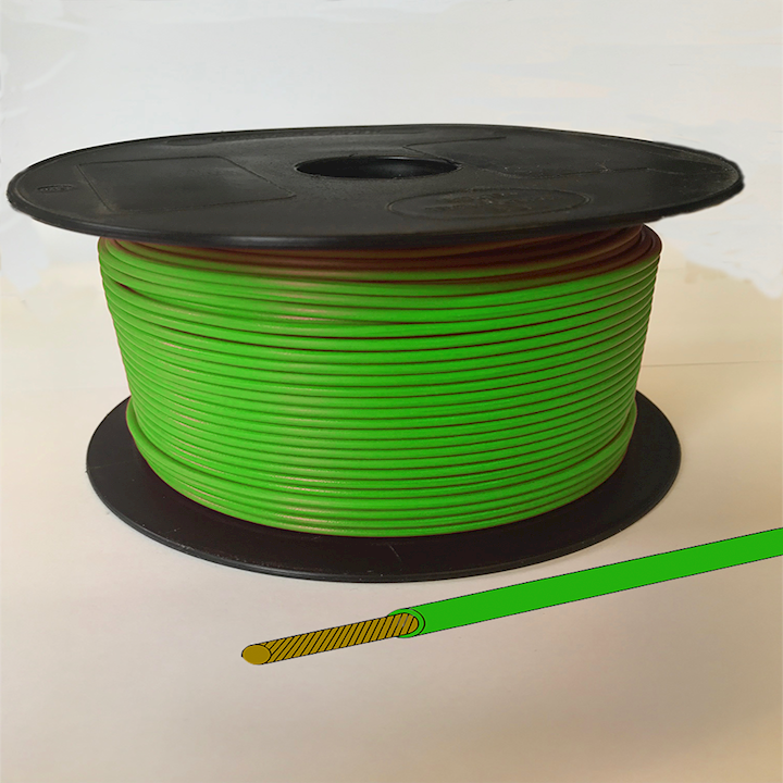 Single Core Cable - Green - 28/0.30 17.5amp