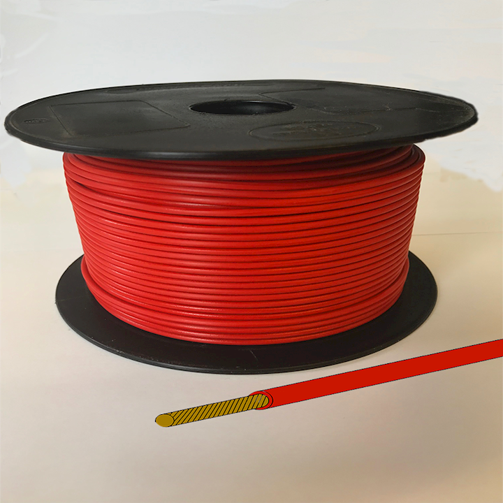 Single Core Cable - Red - 28/0.30 17.5amp (CAB.3RED)