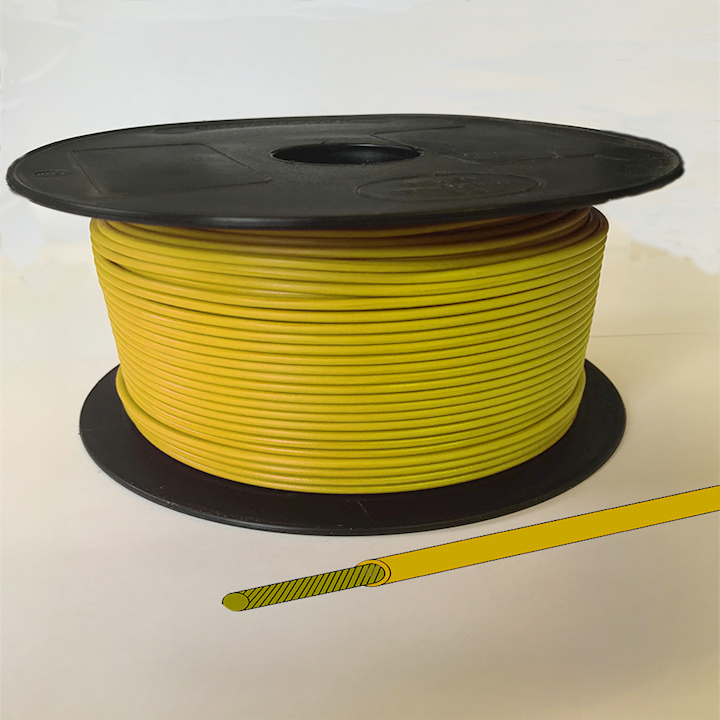 Single Core Cable - Yellow - 35/0.30 21.75amps (CAB.35/YELLOW)