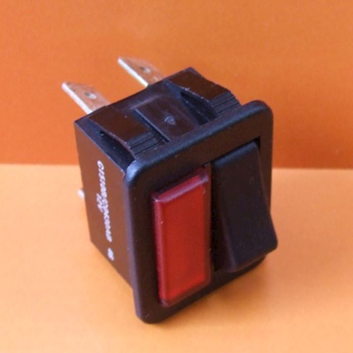 Rocker Switch With Red Indicator 16Amp 12V (SRL.1)