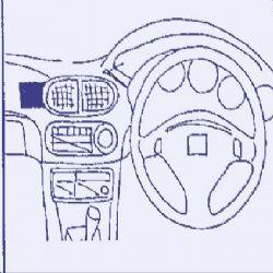 Dashmount 71885 Honda CRX 1992-1996