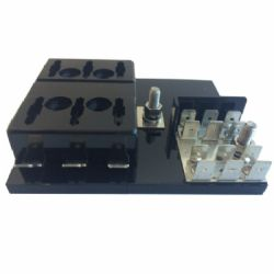 6 WAY AUTOMOTIVE BLADE FUSE HOLDER WITH GROUNDPLANE (BFH-P6)