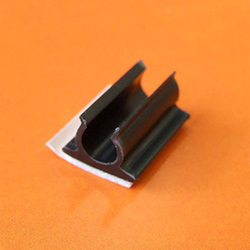 RG58 Coaxial Cable Clip Adhesive Mount - Black (EAC.4-50)