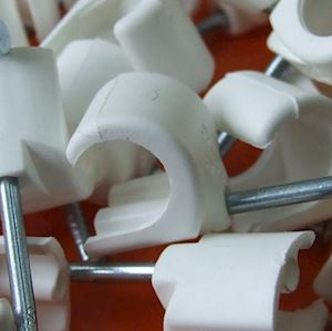 Cable Clips - Round - White