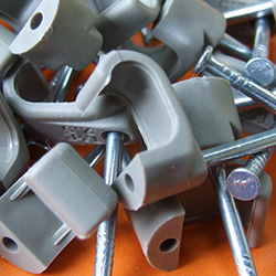 Cable Clips - Flat - Grey