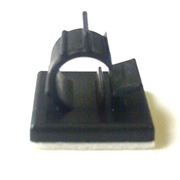 Cable Clamp 5.5mm Adhesive Mount Black Qty 50