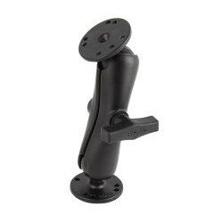 "(RAM-101) 1.5"" Ball Mount with Standard Arm and 2.5"" Round Bases"