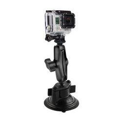 "(RAM-B-166-GOP1) Twist Lock Suction Mount with 1"" Ball GoPro Hero, TomTom Bandit & Garmin VIRB X & XE Adapter"