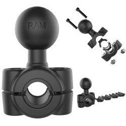 "(RAM-B-408-37-62) Torque Handlebar and Rail Base 1"" Ball 0.375"" to 0.625"" Diameter"