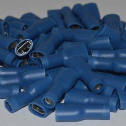 Blue 6.3mm Insulated Female Spade Terminal (WT.19)