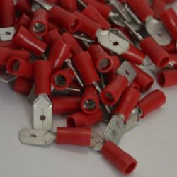 6.3mm Male Terminal - Red