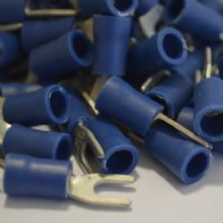 3.7mm Fork Wiring Terminal - Blue (WT.37)