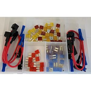 Assorted Box of Micro 2 Fuses and Holders (AB.28)