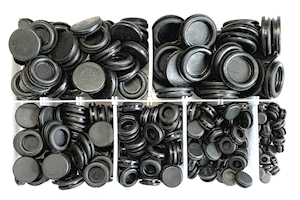 Assorted Blanking Grommets PVC Black (AB.52)