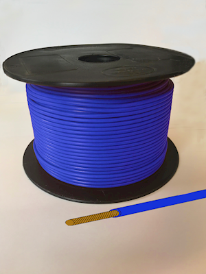 Single Core Cable - Blue - 21/0.30 12.75amp