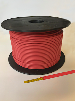 Single Core Cable - Red - 21/0.30 12.75amp