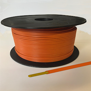 Single Core Cable - Orange - 28/0.30 17.5amp
