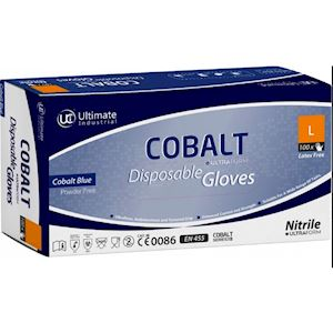 Cobalt Latex Gloves Powder Free Large (100 per box) (GL.3)