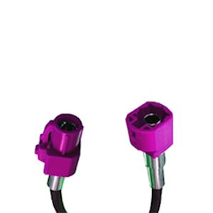 HSD Code H Violet Male to Female 5 meter cable assembly (HSDC500CM-HM-HF)