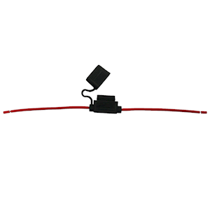 In Line Blade Fuse Holder In-Line Red 15amp Qty 1 (IFH.6C/RED-1)