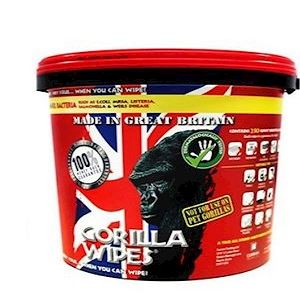Gorilla Antibacterial Wipes Bucket of 250 (KCG.250) BACK IN STOCK EARLY NOVEMBER