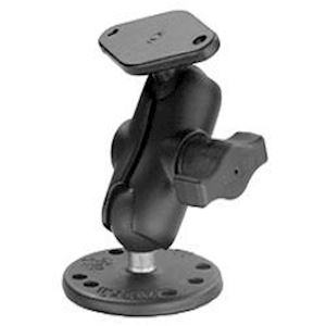 "(RAM-B-138-A) Mount with Short 1"" Ball Arm, Diamond and Round Bases"