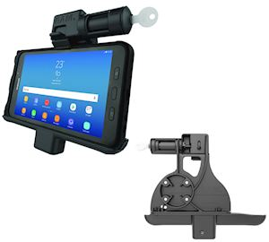 Locking Powered Vehicle Cradle with Keyed Lock for the Samsung Galaxy Tab Active2 (RAM-HOL-SAM7PKL)
