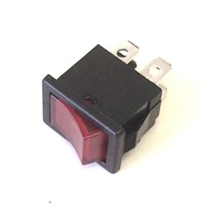 Rocker Switch 4amp 250V DPST Red Neon Iluminated (RS.MDRS2N)