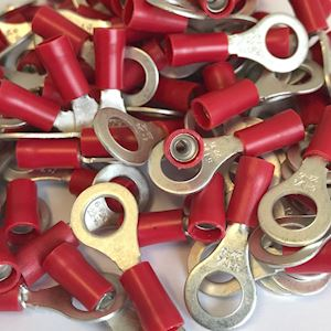 6.4mm Ring Terminal - Red