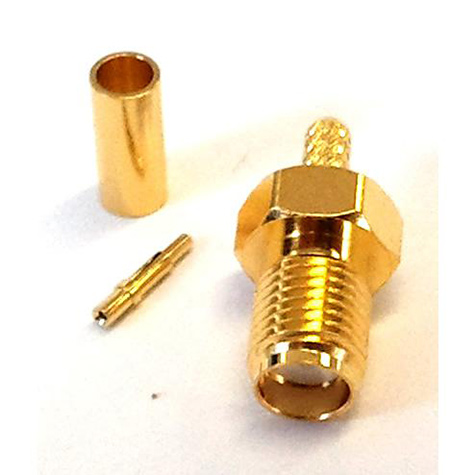 SMA Female Reverse Polarity Crimp Plug (RG174)