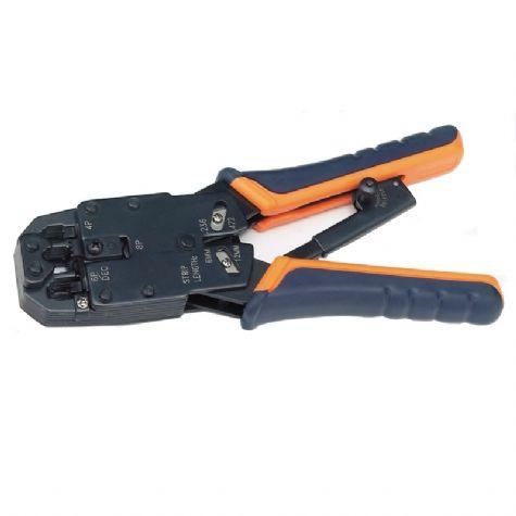RJ11/RJ12/RJ45 Ratchet Crimping Tool