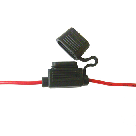 In Line Blade Fuse Holder In-Line Red 15 amp
