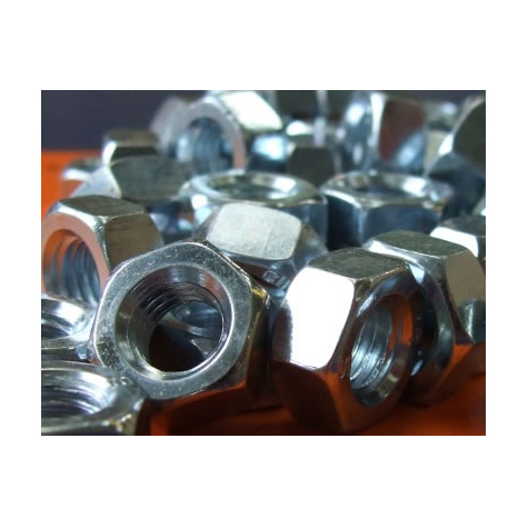 8mm Nuts (13mm Spanner Size) Zinc Plated