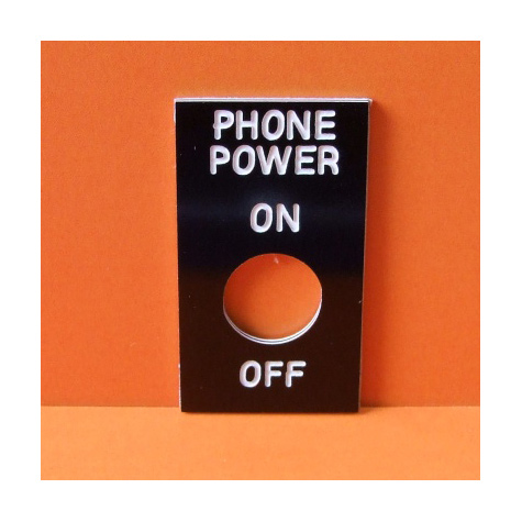 Switch Plate On/Off 12.5mm Adhesive Backed