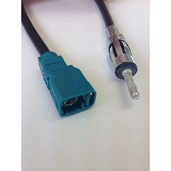 FAKRA female code Z  to DIN 41585 male adapter cable