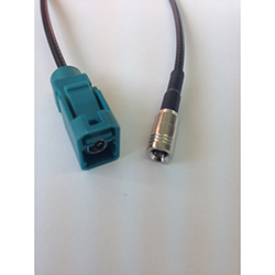 FAKRA female code Z to SMB female adapter cable