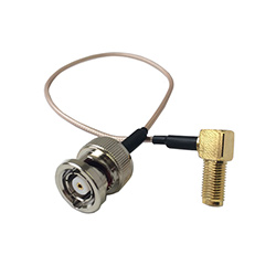 SMA female to BNC male reverse polarity RG178 cable assembly