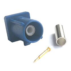 FAKRA Male GPS Code C Blue (RG174)
