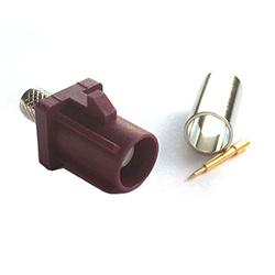 FAKRA Male GSM Code D Bordeaux (RG174)