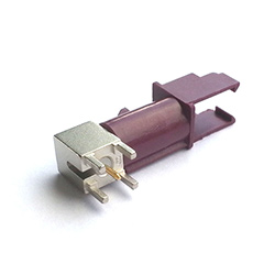 FAKRA Connector PCB Mount Male  GSM Bordeaux Code D