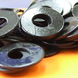 M6 X 14mm Flat Washer Black